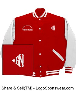 "Greedy Nature Classic Letter Varsity Jacket ""Red"" Design Zoom"
