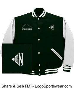 "Greedy Nature Classic Letter Varsity Jacket ""Green"" Design Zoom"
